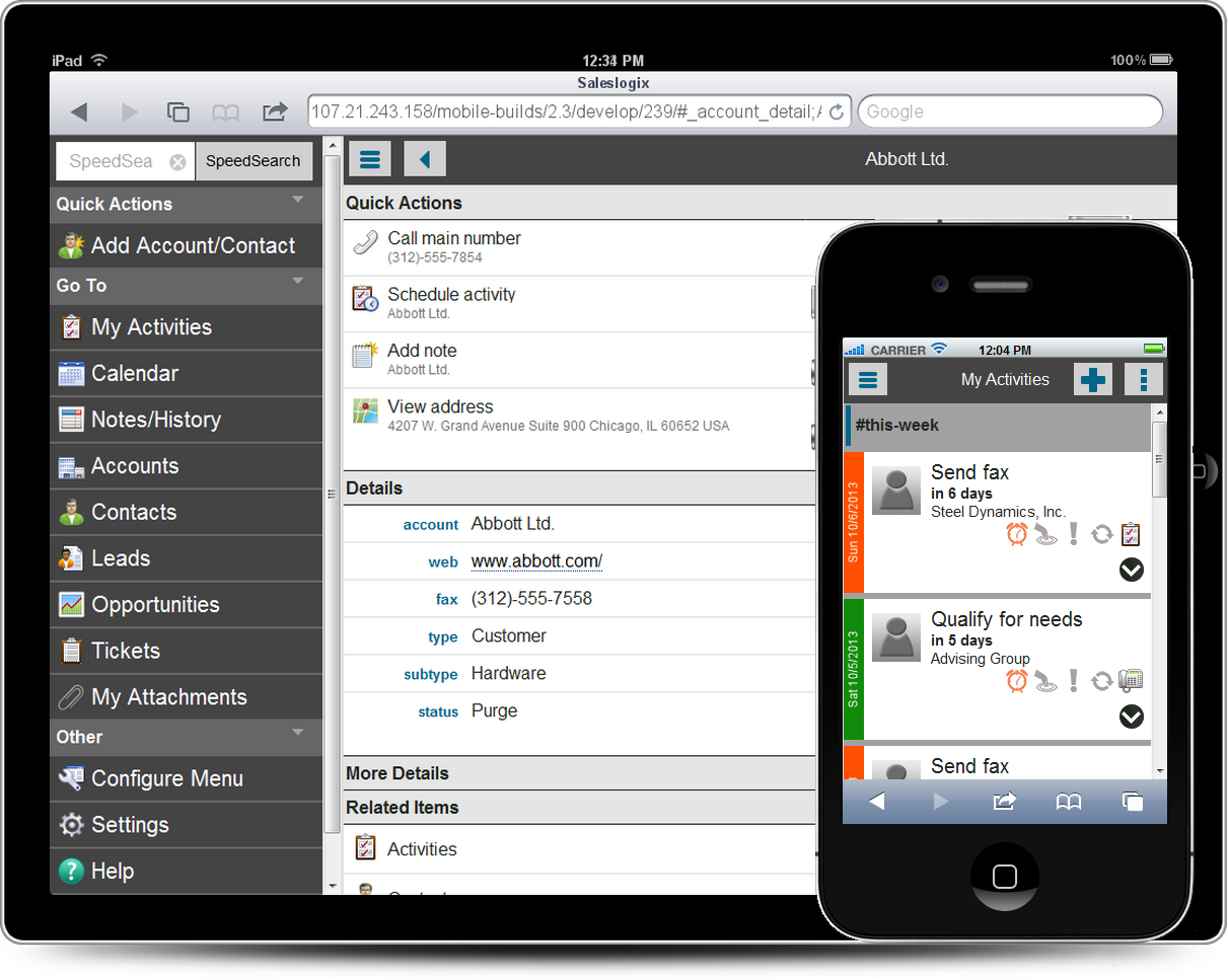 Infor CRM Implementation Android Solution